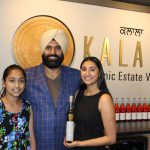 Kalala - Karnail with his daughters Kiran and Simran Sidhu